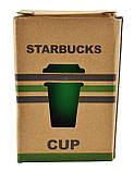 Чашка керамическая кружка Starbucks PY 023 зеленая, фото 3