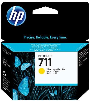 Картридж HP No.711 для HP DesignJet T120/125/130/520/525/530, Yellow, 29 мл