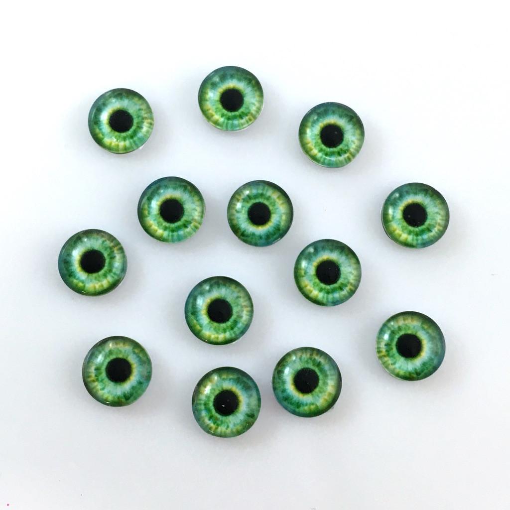 Кабошоны глаза 10 мм (10-036). Цена за 2 шт.