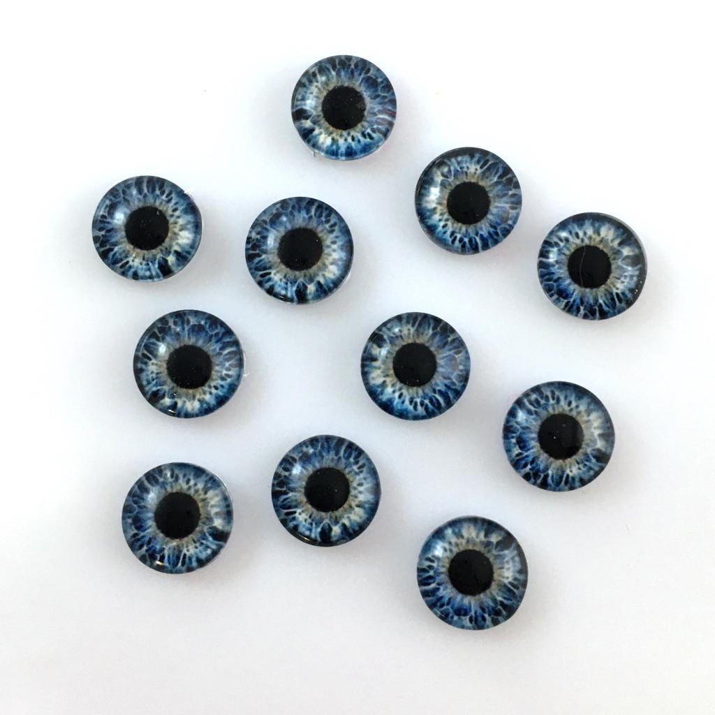 Кабошоны глаза 10 мм (10-035). Цена за 2 шт.