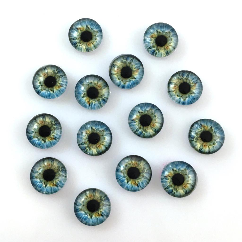 Кабошоны глаза 10 мм (10-037). Цена за 2 шт.