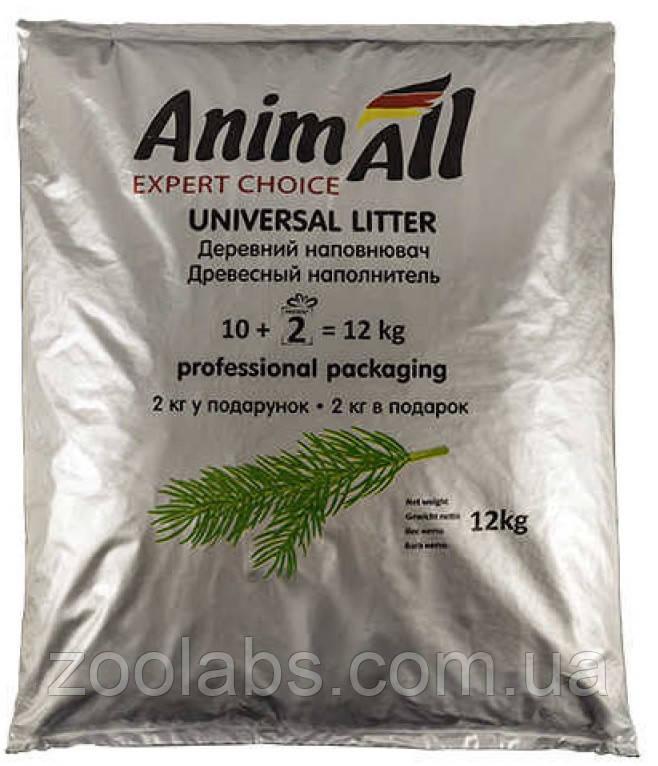 Наполнитель для туалета Энимолл | AnimAll наполнитель древесный 12 кг