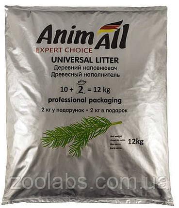 Наполнитель для туалета Энимолл | AnimAll наполнитель древесный 12 кг, фото 2