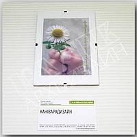 "Антирама стеклянная 90х130мм антирамка безбагетная клямерная рамка-клип или ""рамка без рамки"""