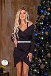 Платье женское нарядное на Новый год чёрное 42-44,46-48, фото 2