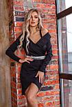 Платье женское нарядное на Новый год чёрное 42-44,46-48, фото 6