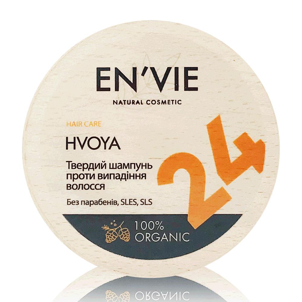Твердий шампунь проти випадіння волосся HVOYA від EN'VIE LAB 80 р.