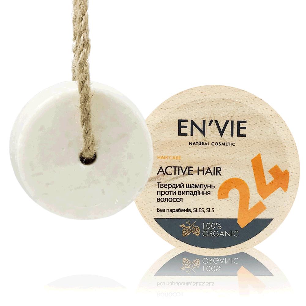 Твердий шампунь проти випадіння волосся Active Hair від EN'VIE LAB 80 р.