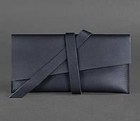 Кошелек кожаный для документов, тревел кейс темно синий, фото 1