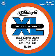 Струны для электрогитары D'Addario EJ20 Extra Light 10/49