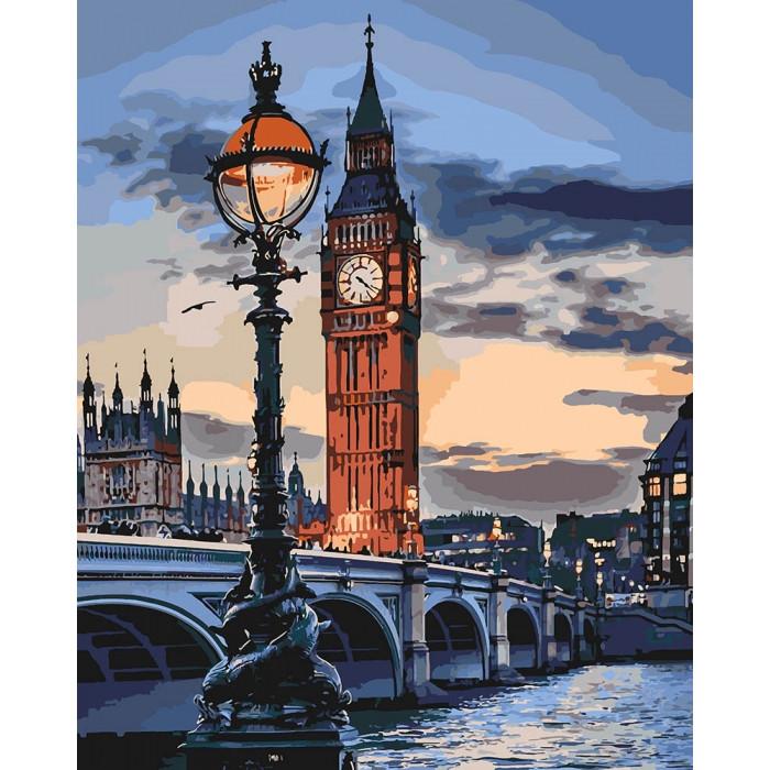 """Набір для розпису по номерах. """"Лондон у сутінках"""" 40*50см"""