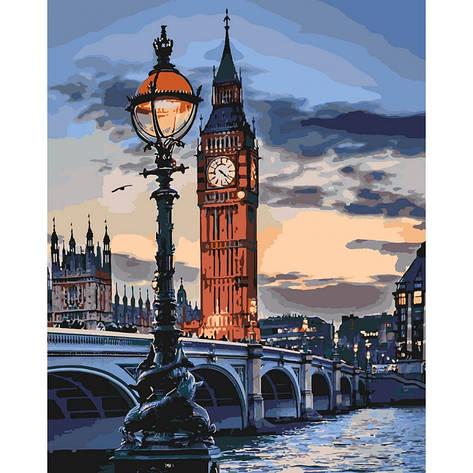 """Набір для розпису по номерах. """"Лондон у сутінках"""" 40*50см, фото 2"""