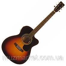 Электроакустическая гитара SX OM160CE/VS