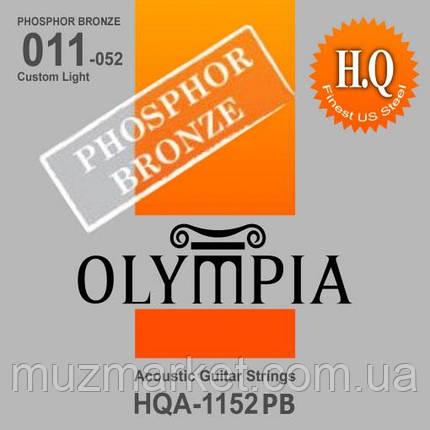 Струни Для Акустичної Гітари OLYMPIA HQA1152PB, фото 2