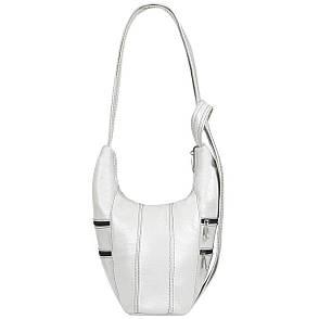 Кожаный рюкзачок женский BagHouse 22х26х11 белый ДМ480бел, фото 2
