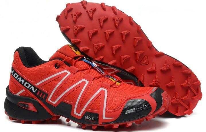 Чоловічі кросівки Salomon Speedcross 3 (чорно-бордові) 10140