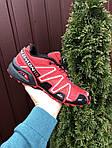 Чоловічі кросівки Salomon Speedcross 3 (чорно-бордові) 10140, фото 2