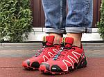Чоловічі кросівки Salomon Speedcross 3 (чорно-бордові) 10140, фото 3