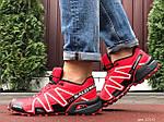 Чоловічі кросівки Salomon Speedcross 3 (чорно-бордові) 10140, фото 5