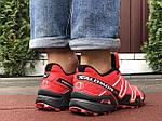 Чоловічі кросівки Salomon Speedcross 3 (чорно-бордові) 10140, фото 6