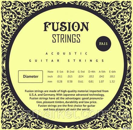 Струны для акустических гитар Fusion strings FA11, фото 2