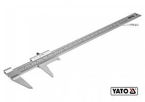 Штангенциркуль алюминиевый YATO 600 мм