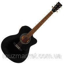 Електроакустична гітара SX OM160CE/BK
