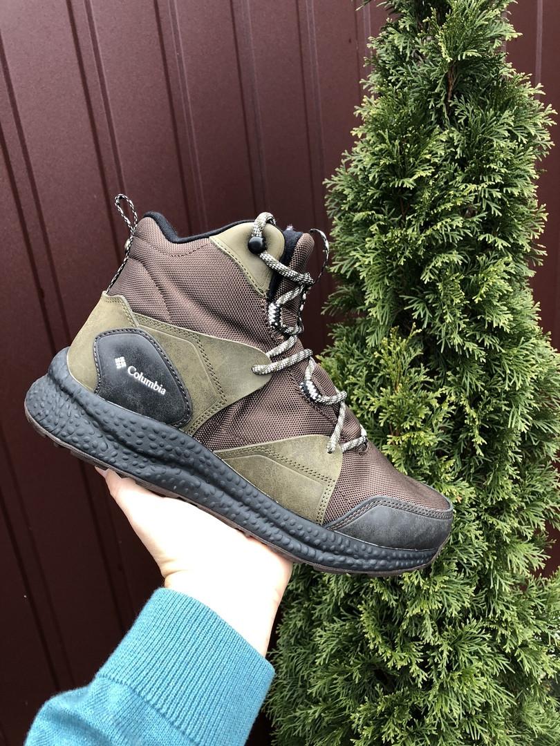 Чоловічі зимові черевики Columbia (темно-зелені) 10143