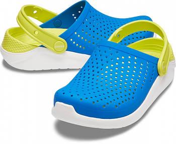 Детские кроксы Crocs Literide Kids голубые С13/ 19,0 – 19,5 см