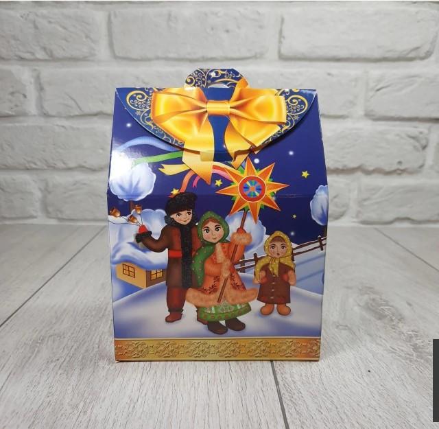 """Новогодняя картонная коробка для конфет, """"Коляда"""" на 500 грамм, (25 шт)"""