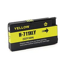 Картридж Ocbestjet HP 711 для HP DesignJet T120/125/130/520/525/530, Yellow, 29 мл