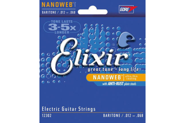Струни для електрогітар ELIXIR NANOWEB BARITONE, фото 2