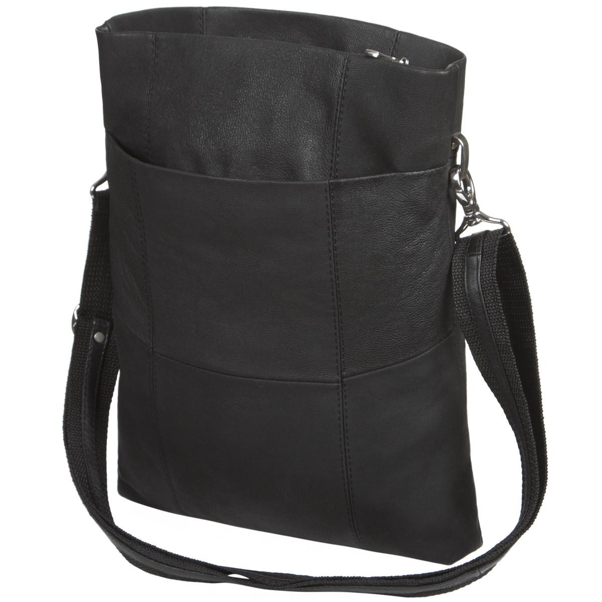 Кожаная женская сумка BagHouse 3 отделение 25х32х6  ДМ620