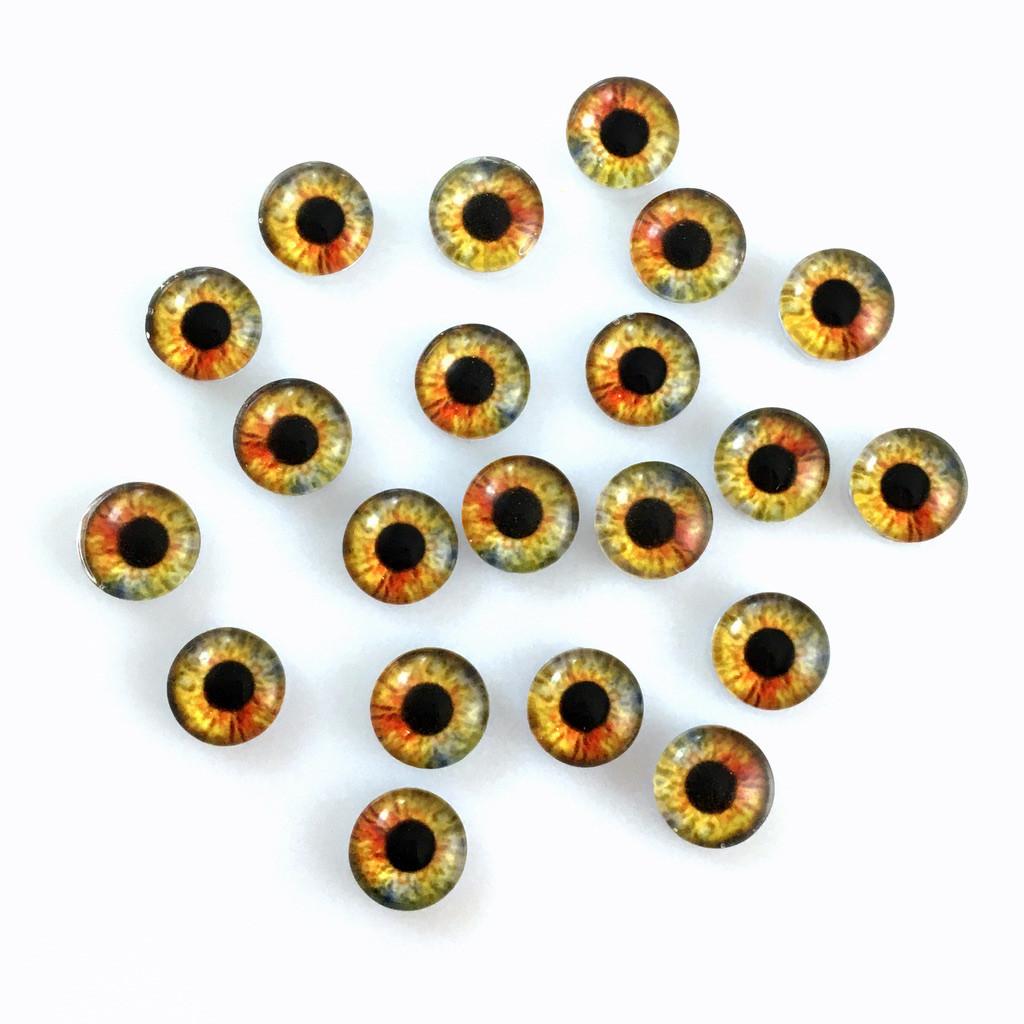 Кабошоны глаза 8 мм (8-042). Цена за 2 шт.