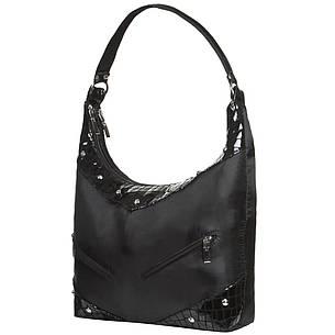 Жіноча сумка BagHouse 29х27х10 комбінована  нейлон + шкіра ДМ220комб, фото 2