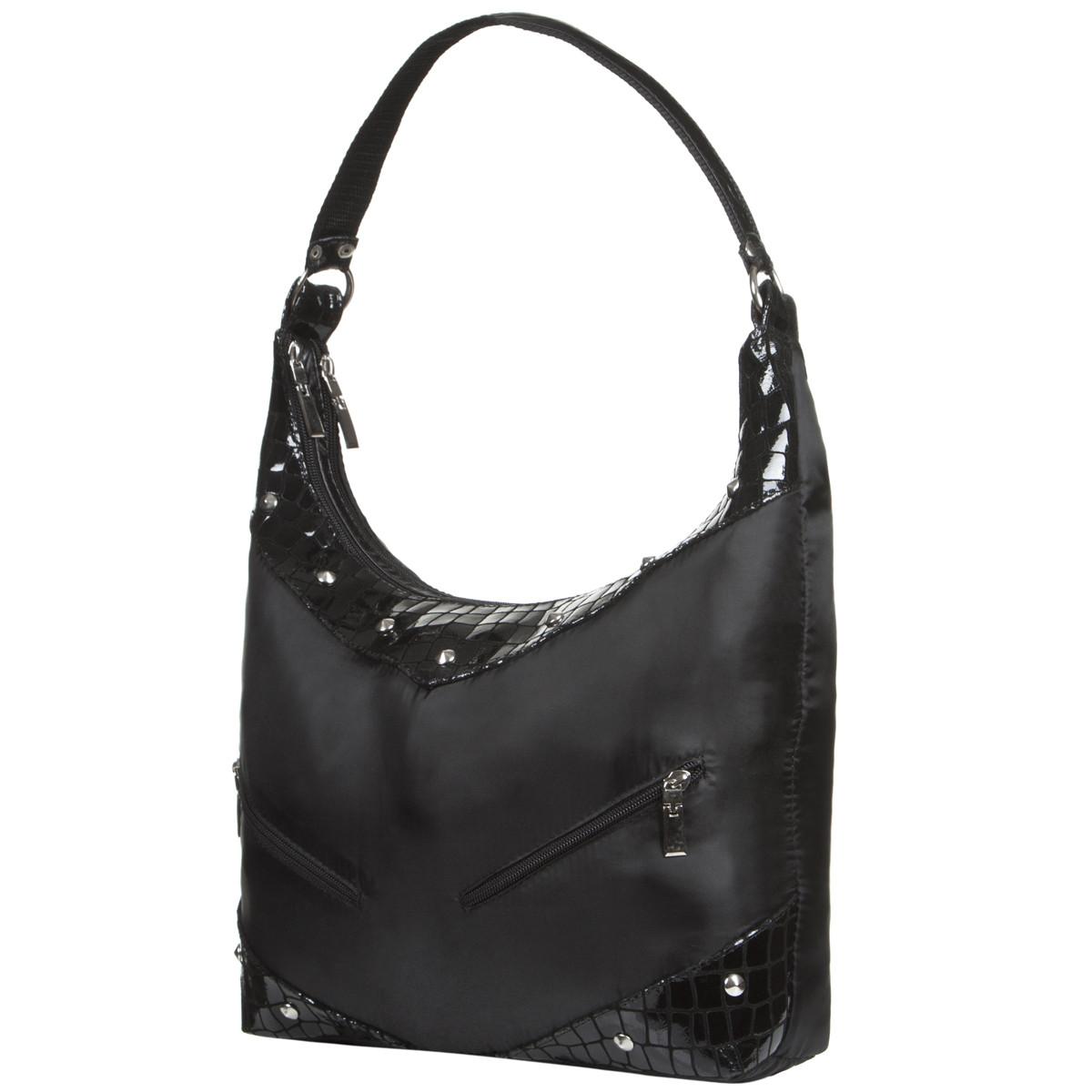 Жіноча сумка BagHouse 29х27х10 комбінована  нейлон + шкіра ДМ220комб