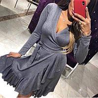 Платье на запах с люрексом, фото 1