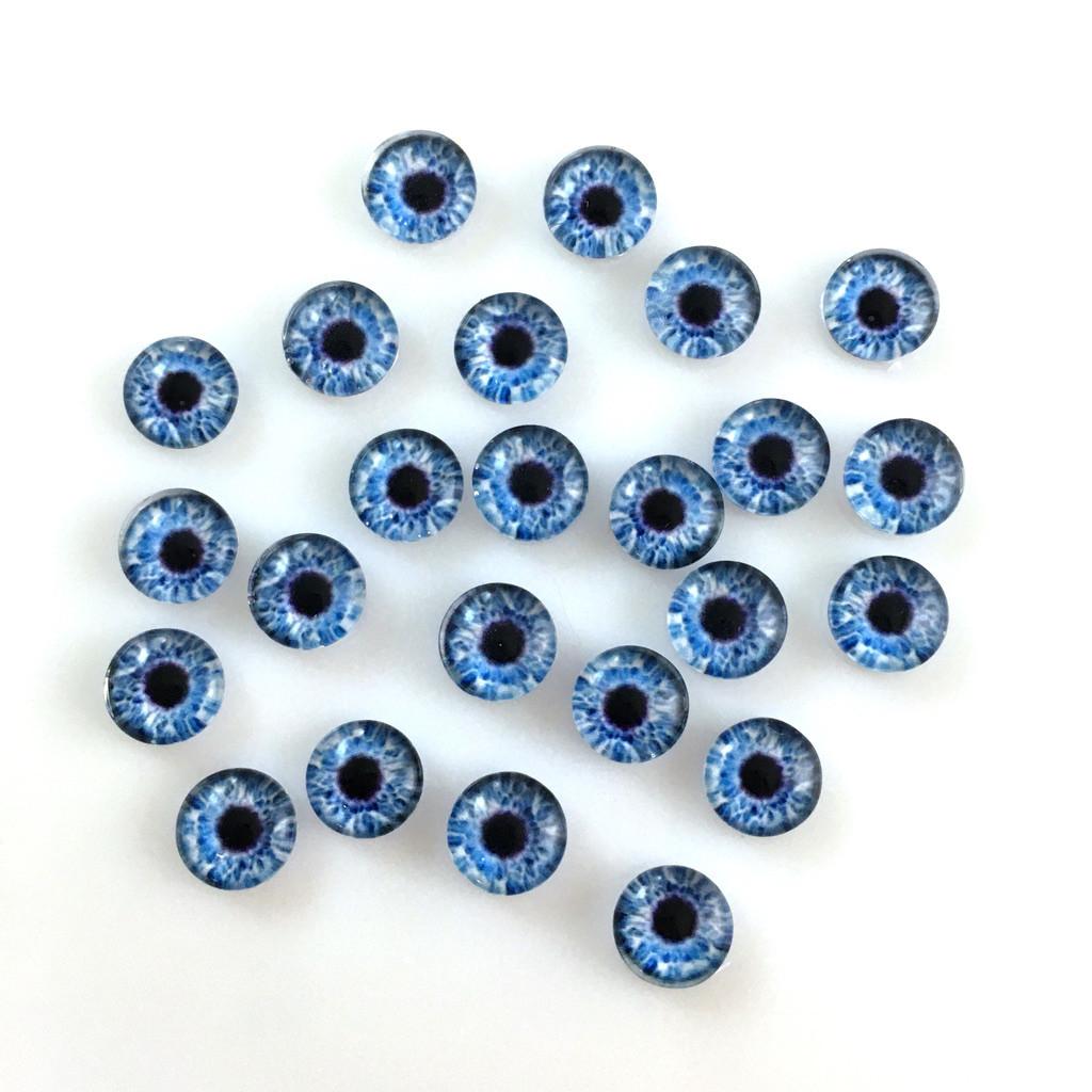 Кабошоны глаза 8 мм (8-051). Цена за 2 шт.