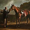 Постер Тони Сопрано и лошадь Пирожок 45х61 см