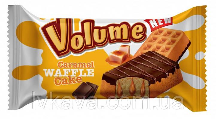Бисквит  ванильный с карамельним соусом Chocolate Waffle Cake  Volume  , 45 гр