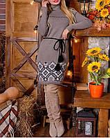 Платье вязаное с орнаментом, фото 1