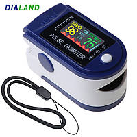 Пульсоксиметр Pulse Oximeter на палец для измерения пульса и уровня кислорода в крови, фото 1