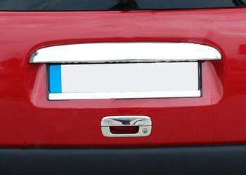 Citroen Berlingo 1996-2008 гг. Накладка над номером (Однодверный, нерж.)