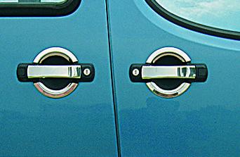 Fiat Doblo I 2001-2005 гг. Накладки на ручки (4 шт, нерж) OmsaLine - Итальянская нержавейка