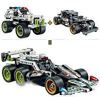 Конструктор Лего Техник. Полицейская инерционная машина-перехватчик. JiSi bricks