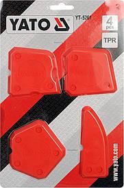 Набір шпателів для силікону, 4 шт YATO YT-5261