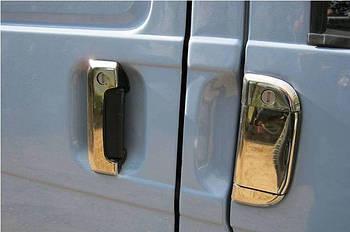 Volkswagen T4 Caravelle/Multivan Накладки на ручки (7 частей, нерж) OmsaLine - Итальянская нержавейка