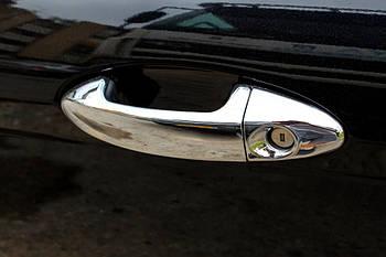 Ford Fiesta 2008-2017 гг. Накладки на ручки (4 шт., нерж.) OmsaLine - Итальянская нержавейка