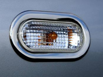 Volkswagen T5 рестайлинг 2010-2015 гг. Хром накладки на поворотники (2 шт, нерж)