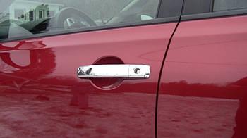 Nissan Navara 2006-2015 гг. Накладка на ручки (4 шт, нерж) Без чипа, OmsaLine - Итальянская нержвейка